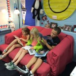 Building reading stamina while enjoying the comforts of the 2P couch!